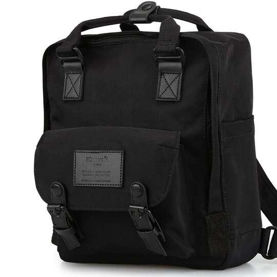 """Plecak Himawari HM188S na tablet 10"""" vintage - Kolor: 34. cały czarny"""