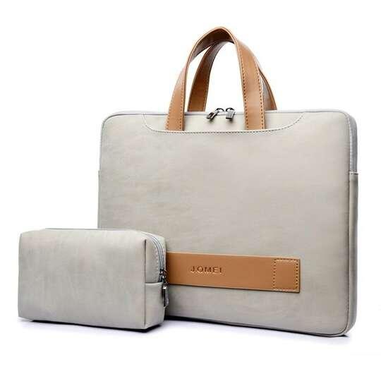 """Etui/torba JQ Eva na laptopa 15,6"""" eco skóra - Kolor: beżowy"""