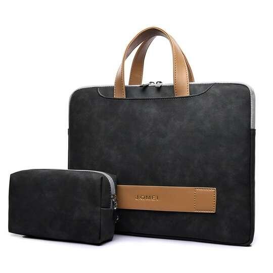 "Etui/torba JQ Eva na laptopa 15,6"" eco skóra - Kolor: grafitowy"