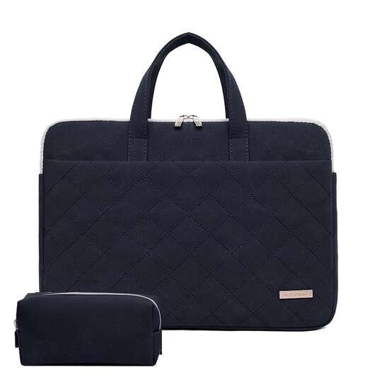 """Etui/torba JQ Paola pikowane na laptopa 13,3"""" 14,1"""" eco skóra - Kolor: grafitowy"""