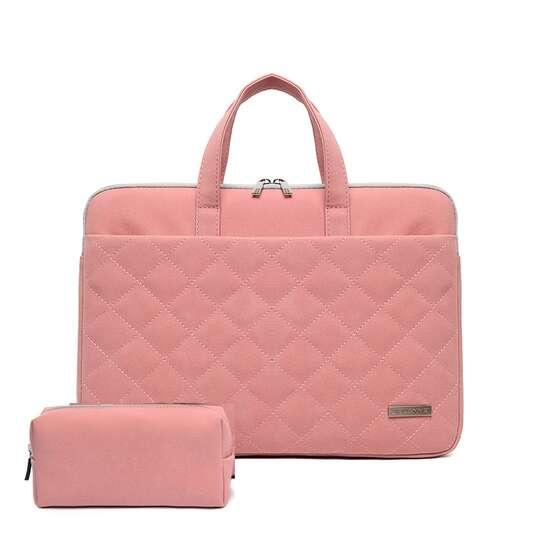"Etui/torba JQ Paola pikowane na laptopa 13,3"" 14,1"" eco skóra - Kolor: różowy"