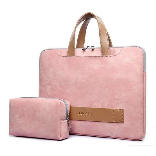 """Etui/torba JQ Eva na laptopa 15,6"""" eco skóra - Kolor: różowy"""