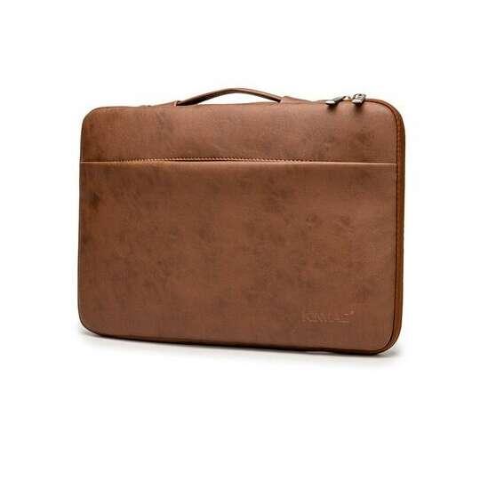"Etui Kinmac na laptopa 15,6"" eco skóra - Kolor: brązowy"