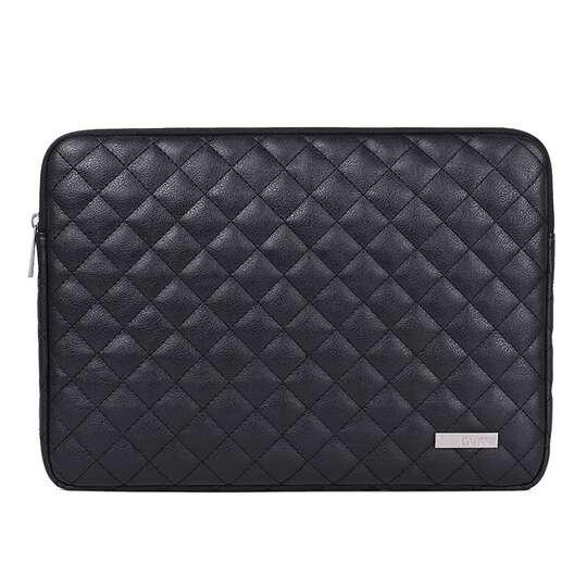 """Etui Canvas na laptopa 13,3"""" L19 pikowane - Kolor: czarny"""