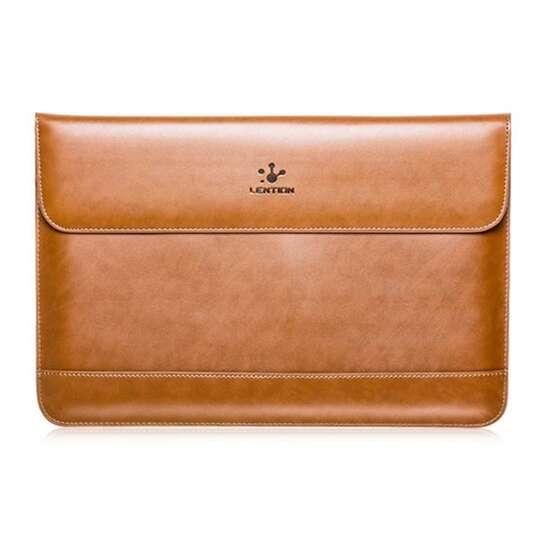 Etui Lention skóra naturalna Macbook Air 13 - Kolor: brązowy
