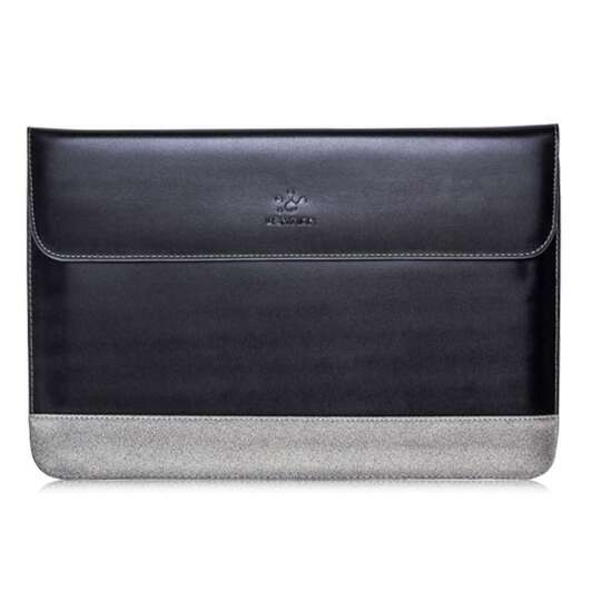 Etui Lention skóra naturalna Macbook Air 13 - Kolor: czarno-szary