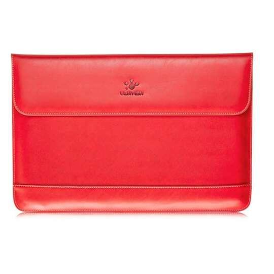 Etui Lention skóra naturalna Macbook Air 13 - Kolor: czerwony