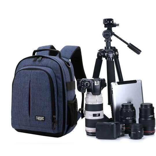 Plecak fotograficzny MDN na aparat - Kolor: niebieski