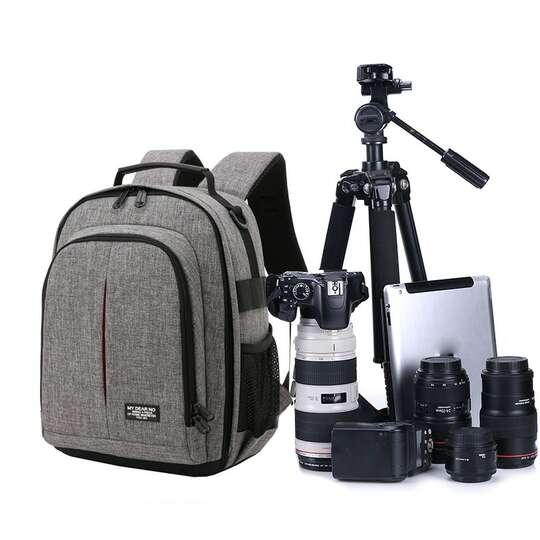 Plecak fotograficzny MDN na aparat - Kolor: szary