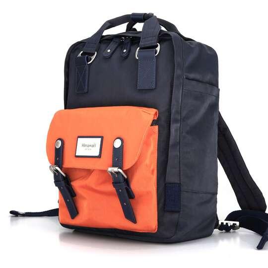 "Plecak Himawari HM188L na laptopa 13,3"" 14,1"" vintage - Kolor: 71. granatowo-pomarańczowy"