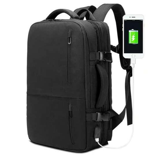 """Plecak/Torba Nigeer na laptopa 17,3"""" 1711 bagaż podręczny z USB - Kolor: czarny"""