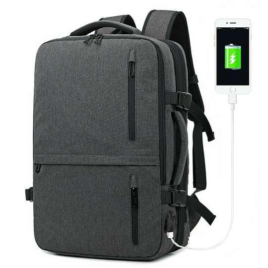 """Plecak/Torba Nigeer na laptopa 17,3"""" 1711 bagaż podręczny z USB - Kolor: szary"""