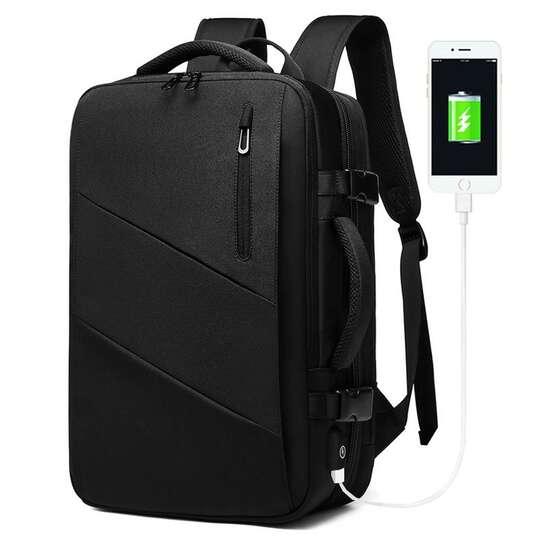 """Plecak/Torba Nigeer na laptopa 17,3"""" 1811 bagaż podręczny z USB - Kolor: czarny"""
