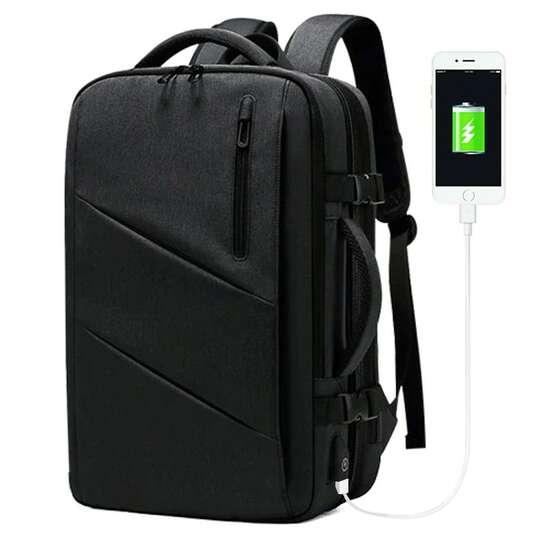 """Plecak/Torba Nigeer na laptopa 17,3"""" 1811 bagaż podręczny z USB - Kolor: szary"""
