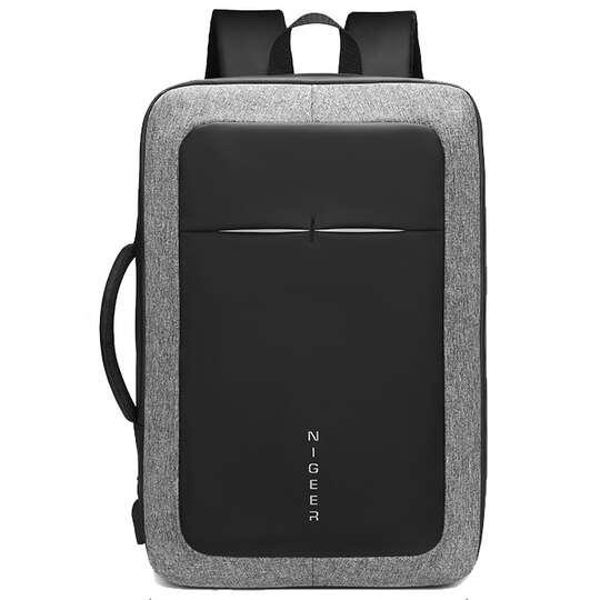 """Plecak/torba Nigeer na laptopa 17,3"""" 1810 z USB - Kolor: szaro-czarny"""