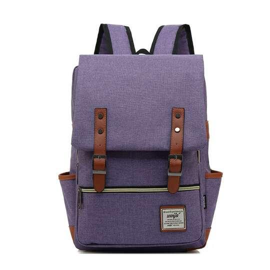 "Plecak Oxford na laptopa 15,6"" - Kolor: fioletowy"