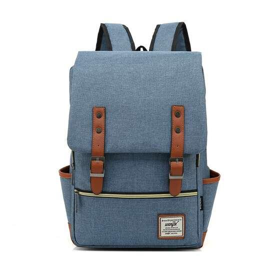 """Plecak Oxford na laptopa 15,6"""" - Kolor: jeansowy"""