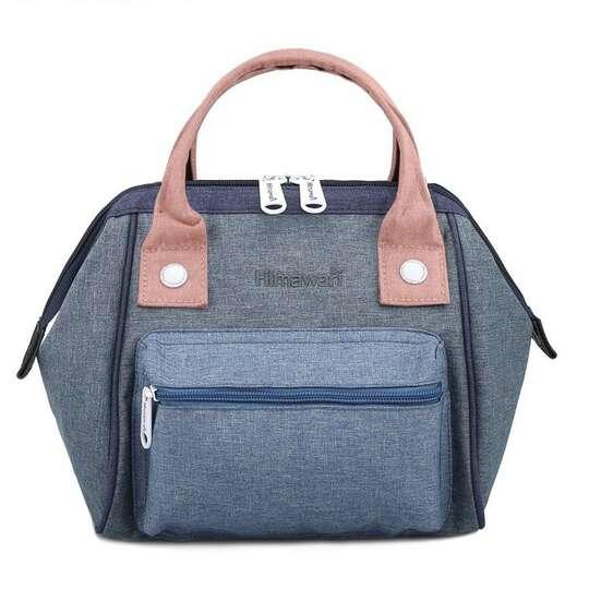 Torebka/plecak Himawari SS9113  - Kolor: niebiesko-różowy