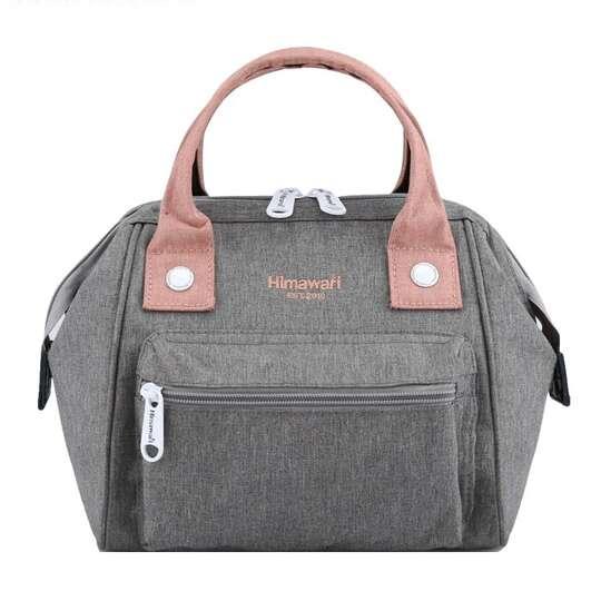 Torebka/plecak Himawari SS9113  - Kolor: szaro-różowy