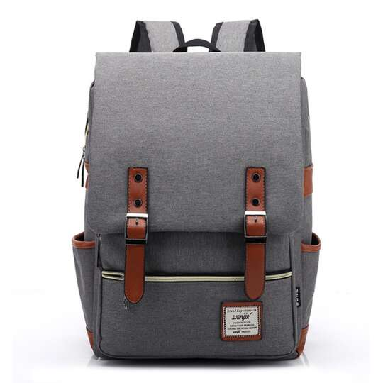 "Plecak Oxford na laptopa 15,6"" - Kolor: szary"