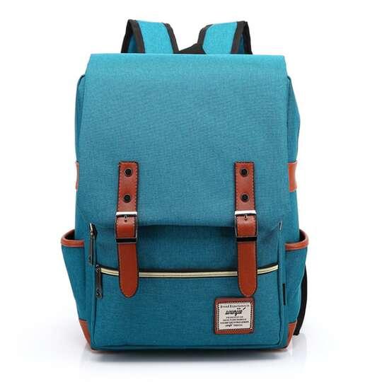 "Plecak Oxford na laptopa 15,6"" - Kolor: turkusowy"